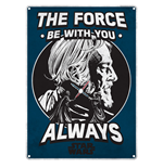 Placa de metal Star Wars - The Force