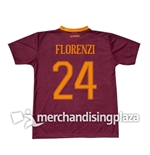 Camiseta  AS Roma Home 2016/17 Florenzi 24 Réplica