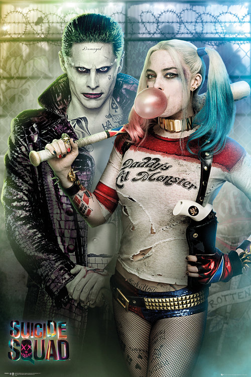 Póster Suicide Squad Joker and Harley Quinn