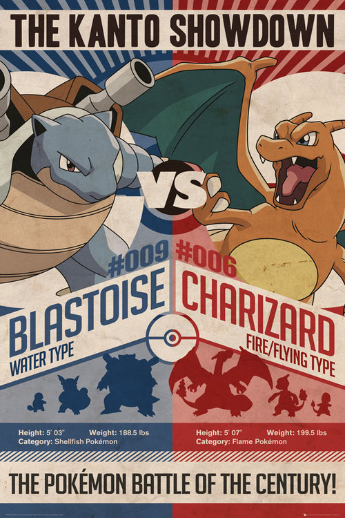Póster Pokémon Red v Blue