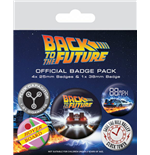 Regreso al Futuro Pack 5 Chapas DeLorean