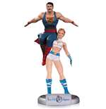 DC Comics Bombshells Estatua Power Girl & Superman 35 cm