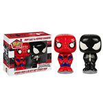 Marvel Comics POP! Home Salero y Pimentero Spider-Man & Black Suit Spider-Man