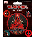 Marvel Comics Pegatina Vinilo Pack Deadpool (10)