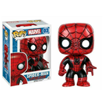 Marvel Comics POP! Vinyl Cabezón Spider-Man (Red & Black Costume) 9 cm