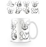 Mickey Mouse Taza Sketch Faces