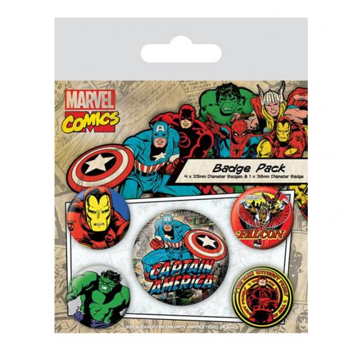 Pack Chapitas Marvel Superheroes