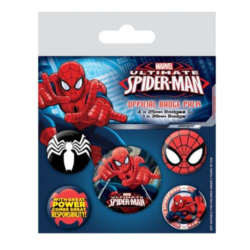 Pack Chapitas Spiderman