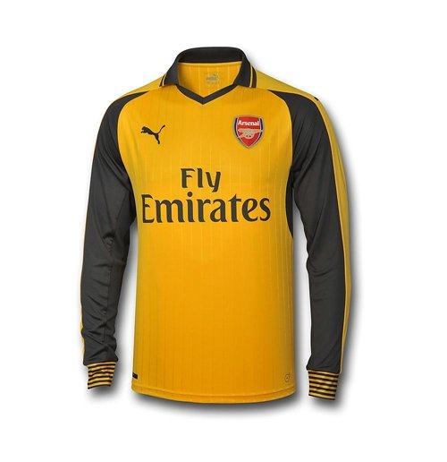 Camiseta manga larga Arsenal 2016-2017 Away de niño