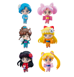 Sailor Moon Petit Chara Pack de 6 Figuras Let's go to festival 6 cm