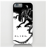 Alien Funda para iPhone 6 Plus Xenomorph Black & White Comic
