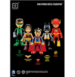 Justice League Pack de 5 Figuras Mini Hybrid Metal 7 cm