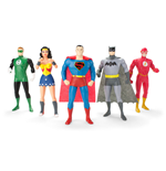 Justice League Pack de 5 Figuras Maleables 13 cm