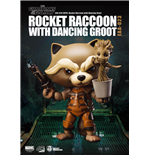 Guardianes de la Galaxia Egg Attack Figura Rocket Raccoon with Dancing Groot 10 cm