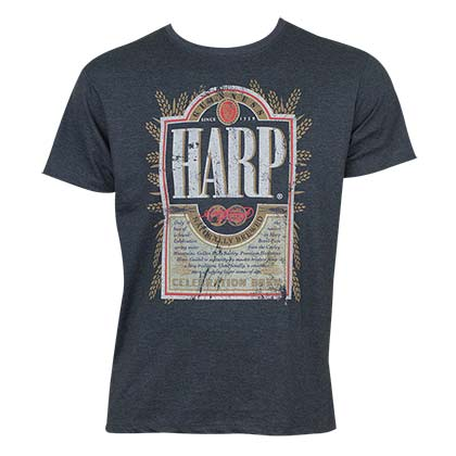 Camiseta Harp Lager Distressed Label