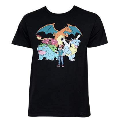Camiseta Pokémon Ash And Crew