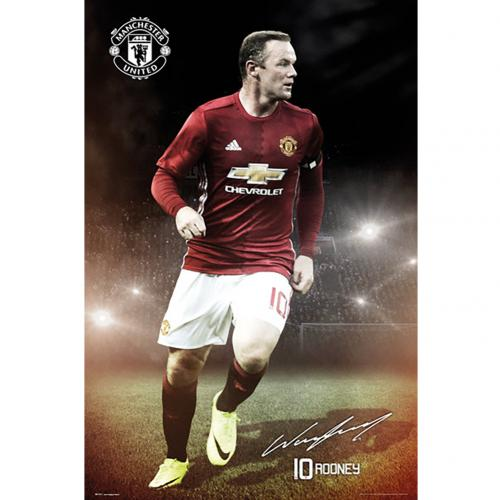 Póster Manchester United FC Rooney 15