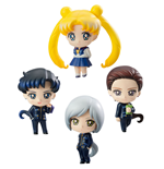 Sailor Moon Petit Chara Pack de 4 Figuras Three Lights (Star Lights) 6 cm