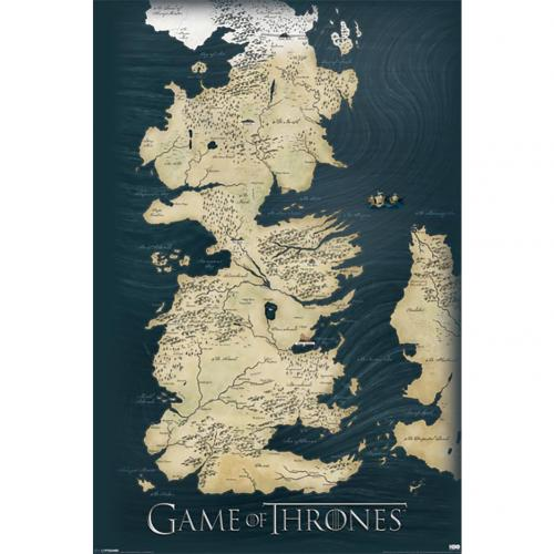 Póster Juego de Tronos (Game of Thrones) Map 210