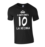 Camiseta Real Madrid La Decima (Negro)