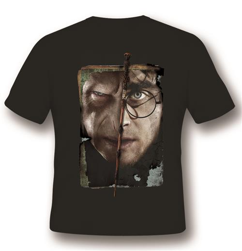 Camiseta Harry Potter Harry Vs Voldemort Black