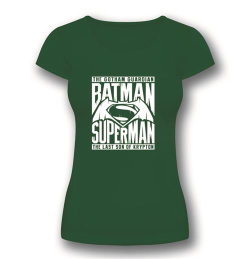 Camiseta Batman V Superman Symbol Green de mujer