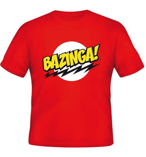 Camiseta Big Bang Theory Bazinga Red