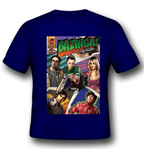 Camiseta Big Bang Theory Comic Book Cover