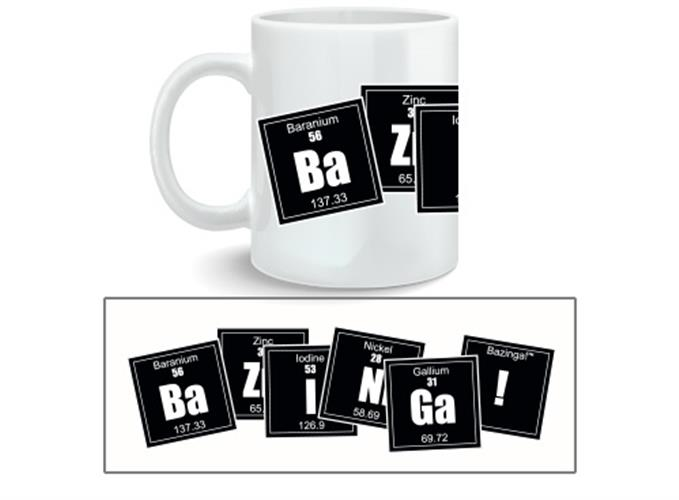 Taza Big Bang Theory Bazinga Formula