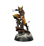 Marvel Estatua Premium Format 1/4 Wolverine Brown Costume 50 cm