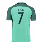 Camiseta Portugal Fútbol 2016-2017 Away (Figo 7)