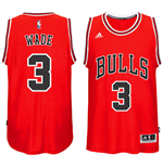 Camiseta Chicago Bulls Dwyane Wade adidas New Swingman Road Jersey Roja