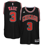 Camiseta Chicago Bulls Dwyane Wade adidas New Swingman Alternate Jersey Negra