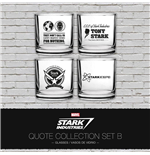 Iron Man Pack de 4 Vasos Stark Industries Quotes Set B