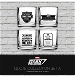 Iron Man Pack de 4 Vasos Stark Industries Quotes Set A