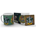 Harry Potter Taza con Posavaso Slytherin