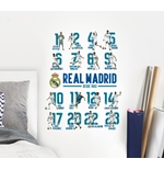 Pegatina para pared Real Madrid 16 Players