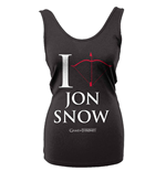 Camiseta de Tirantes Juego de Tronos (Game of Thrones) I Love Jon Snow
