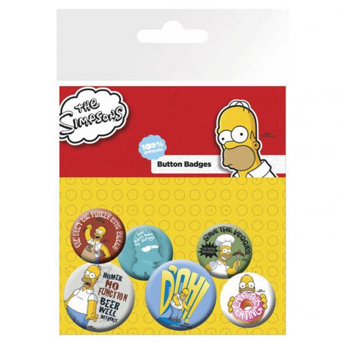 Pack Chapitas Los Simpsons