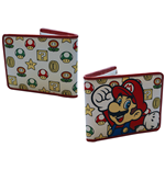 Cartera Super Mario Mushroom Pattern With Mario