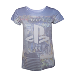 Camiseta PlayStation all over print de mujer