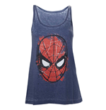 Camiseta de Tirantes Marvel Superheroes Spiderman Head Paint