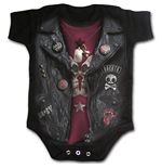 Body Spiral - Baby Sleepsuit Black