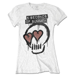 Camiseta 5 seconds of summer Heart Skull