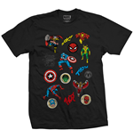 Camiseta Marvel Superheroes Random Badges