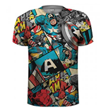 Camiseta Capitán América Comic Strip