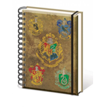 Harry Potter Libreta A5 Hogwart's Crests