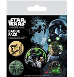 Star Wars Rogue One Pack 5 Chapas Empire