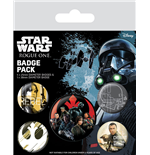 Star Wars Rogue One Pack 5 Chapas Rebel