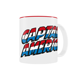 Marvel Comics Taza Captain America Logo
